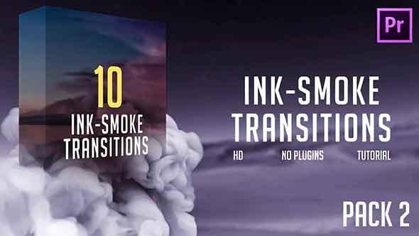 PR模板-10组墨水烟雾晕开过渡转场模板