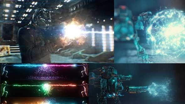 115个科幻电影冲击能量波魔法武器开枪火焰视频