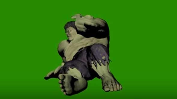 绿巨人绿幕抠像素材