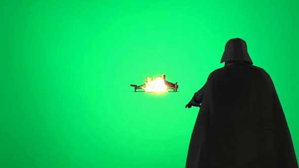 星球大战人物飞船射击动画绿幕抠像素材