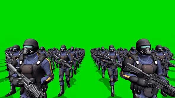 未来战士绿幕抠像素材