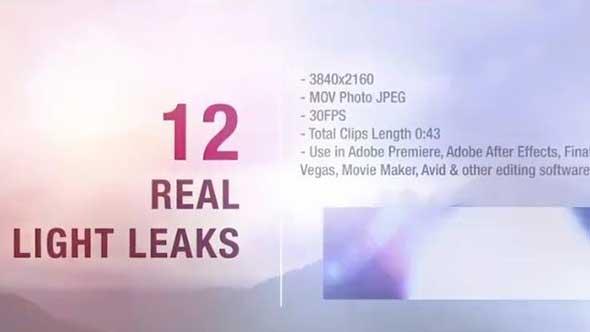 视频素材-12组4K唯美温馨镜头光晕动画