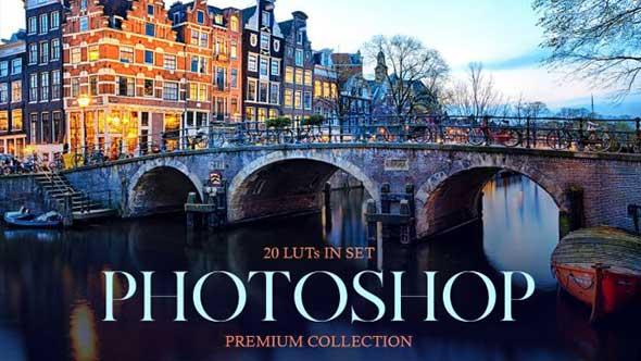 视频调色-Photoshop LUT旅行文艺小清新温暖风景调色预设