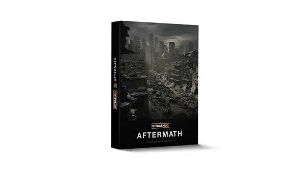 模型-3D末日城市楼房倒塌废墟