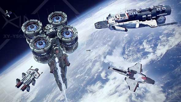 模型-宇宙科幻世界太空飞船3D模型包
