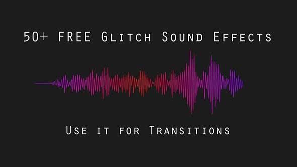 音效-50多个视频文本图像过渡转换小故障声音