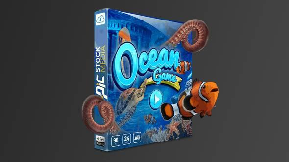 音效-卡通游戏海底世界氛围水流气泡生物发声