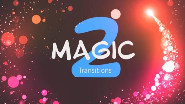 PR模板-魔法粒子转场过渡预设