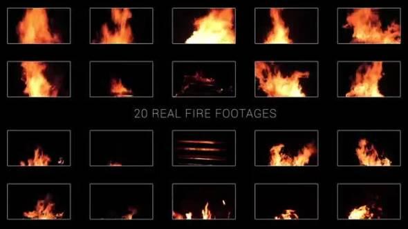 视频素材-20个火焰燃烧动画素材