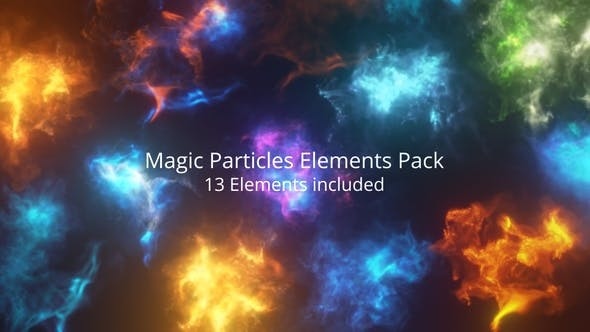 视频素材-13个巫师咒语魔法能量爆炸奇幻粒子动画