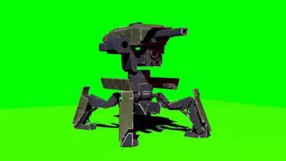 绿幕抠像-3D哨兵绿屏动画
