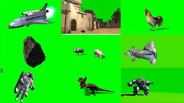 绿幕抠像-AEPR抖音快手绿屏素材高清特效素材