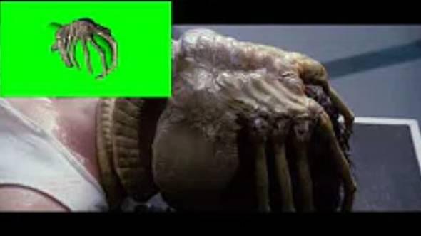 绿幕抠像-外星寄生虫3D