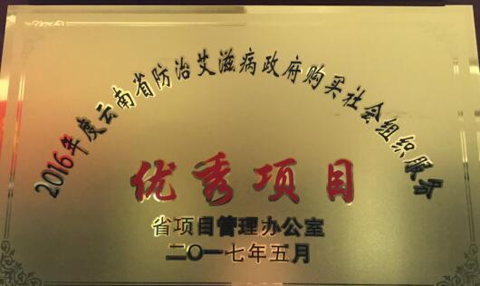 """云南省校内青少年防治艾滋病干预项目获""""优秀项目""""称号  侯丽君"""