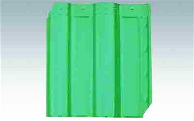 孔雀绿陶瓷彩瓦