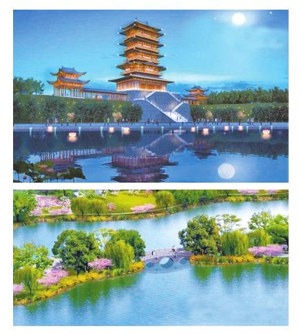 郑州西流湖公园将大改造琉璃瓦 建设路南岸边将建宋式楼阁!