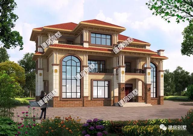 重磅:适合两兄弟建的农村叠拼别墅,不仅房子气派,钱也花的少