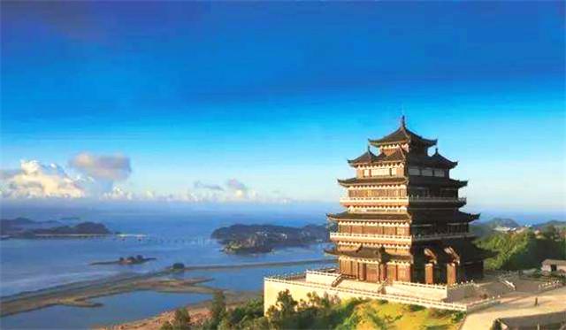 筒瓦铺盖的浙江温州望海楼
