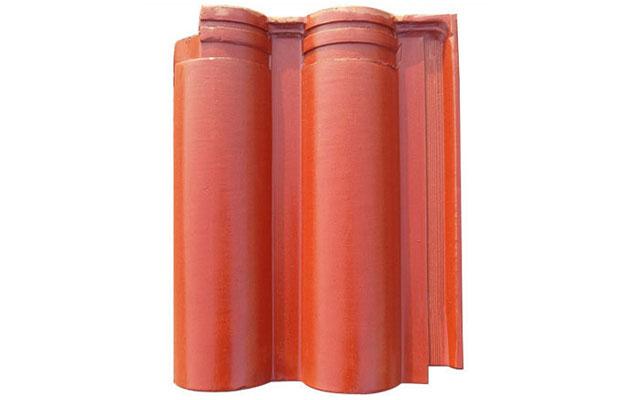 橙色-双筒瓦-仿古建筑瓦