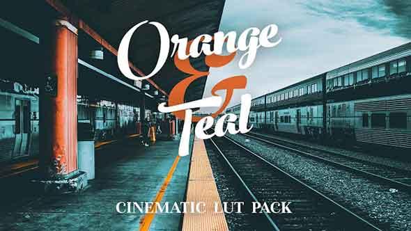 8组橙色和青色照片/视频调色LUTS预设