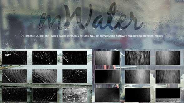 75组2K高清实拍下雨/水珠视频特效合成素材