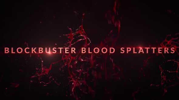 30组飙血溅血4K高清视频素材(带透明通道)