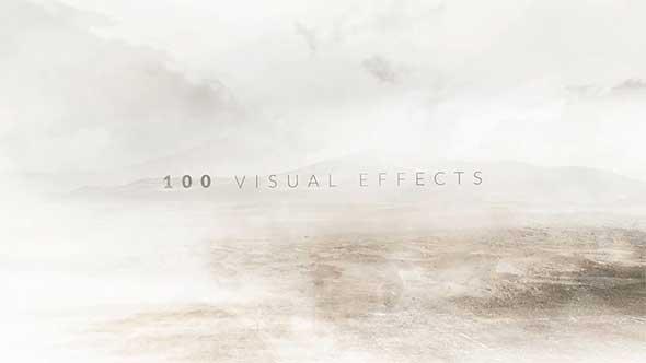 100 Dust Effects 灰尘粒子烟雾特效合成4K视频素材