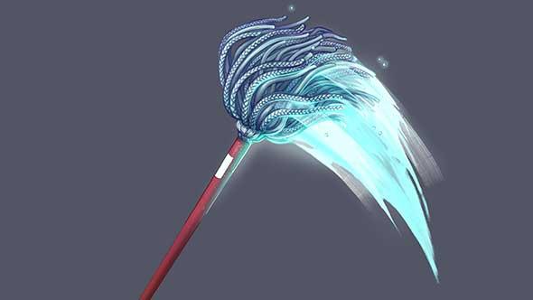 音效-日常生活用品拖把扫帚火把绳子舞动呼呼唰