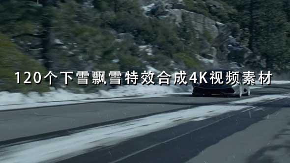 120个下雪飘雪特效合成4K视频素材