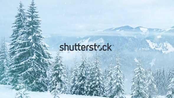 79个冬天下雪结冰特效合成4K视频素材