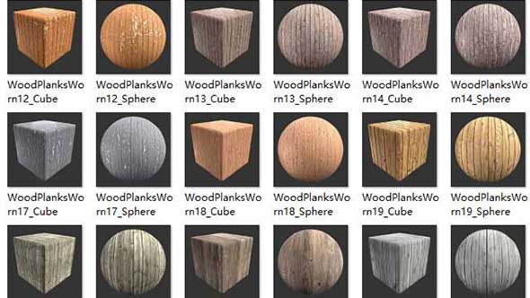 6K-C4D木纹材质贴图