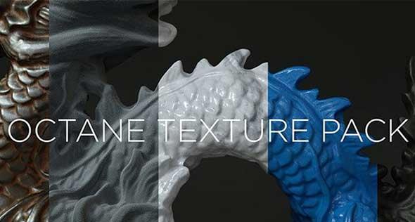 95组C4D Octane渲染器4K金属木纹矿物塑料纹理材质预设