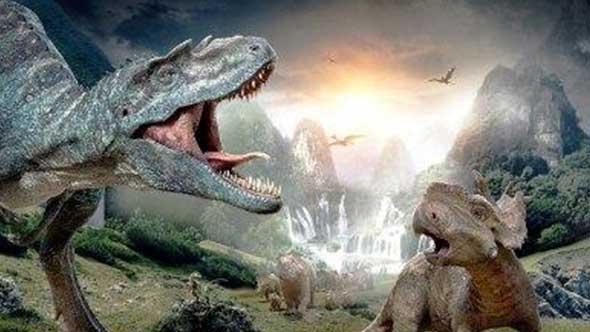 C4D原始恐龙模型带材质动画与骨架