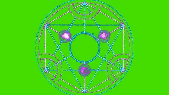 魔法阵绿幕抠像素材