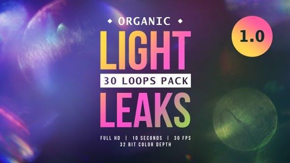 30组梦幻微闪镜头光斑光效视频包装素材