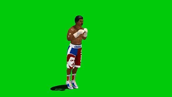 拳击手绿幕抠像素材