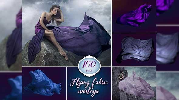 PS素材-100个婚纱裙摆丝绸缥缈叠加素材