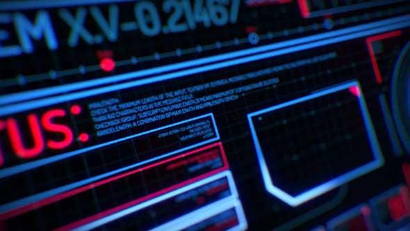 AE模板-300个高科技科幻界面全息信息图形HUD元素动画