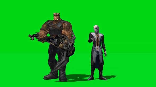 复仇者联盟人物绿幕抠像素材