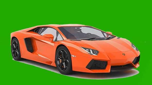 兰博基尼汽车变形绿幕抠像素材