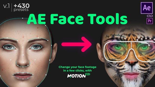 AE脚本-脸部追踪换脸美妆液化扭曲特效工具完全破解版