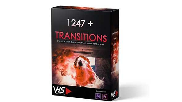 PR预设-1247个镜头推拉平移旋转信号故障闪白炫光视频过渡转场预设