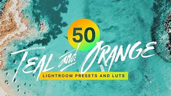LR预设-50种风景人物深青色和橙色调色预设