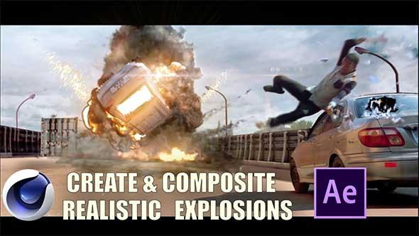 AE/C4D教程-使用C4D和AE模拟渲染合成影视级高级爆炸(机翻中文字幕)