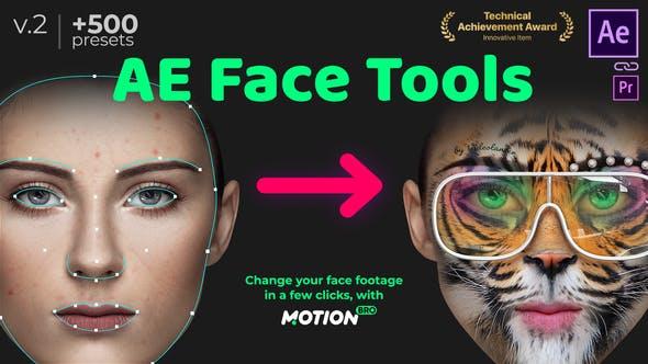 AE脚本-脸部追踪换脸美妆液化扭曲特效工具完全破解版V.2+使用教程