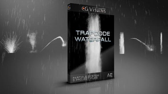 AE模板-5组可编辑水流瀑布飞溅喷洒流体特效合成动画