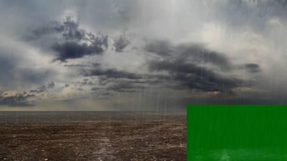 绿幕抠像-超清下雨场景合成动画素材