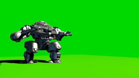 绿幕抠像-机器人行走绿幕