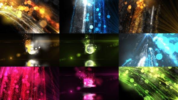 AE模板-时尚商务发光粒子线条开场LOGO展示