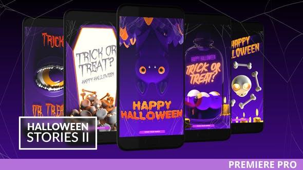 PR模板-手机版万圣节竖屏魔术眼睛卡通蝙蝠小骨头